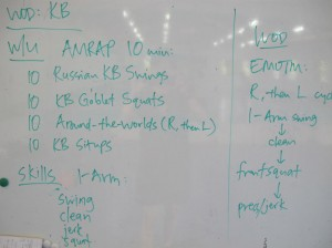 CrossFit WOD: Kettlebell Exercises