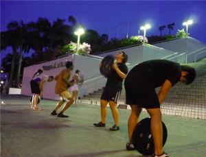 Outdoor WOD: CrossFit Training at Singapore Indoor Stadium!