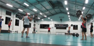 CrossFit Training: Heavy Thrusters, Double Unders!