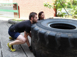 Singapore CrossFit Hub Tyre Flip Work Out